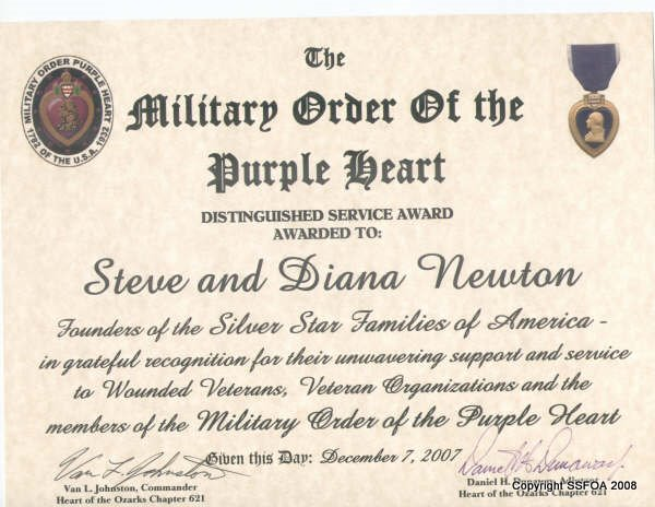 Purple heart award certificate heartofozarksphch621 for Purple heart citation template